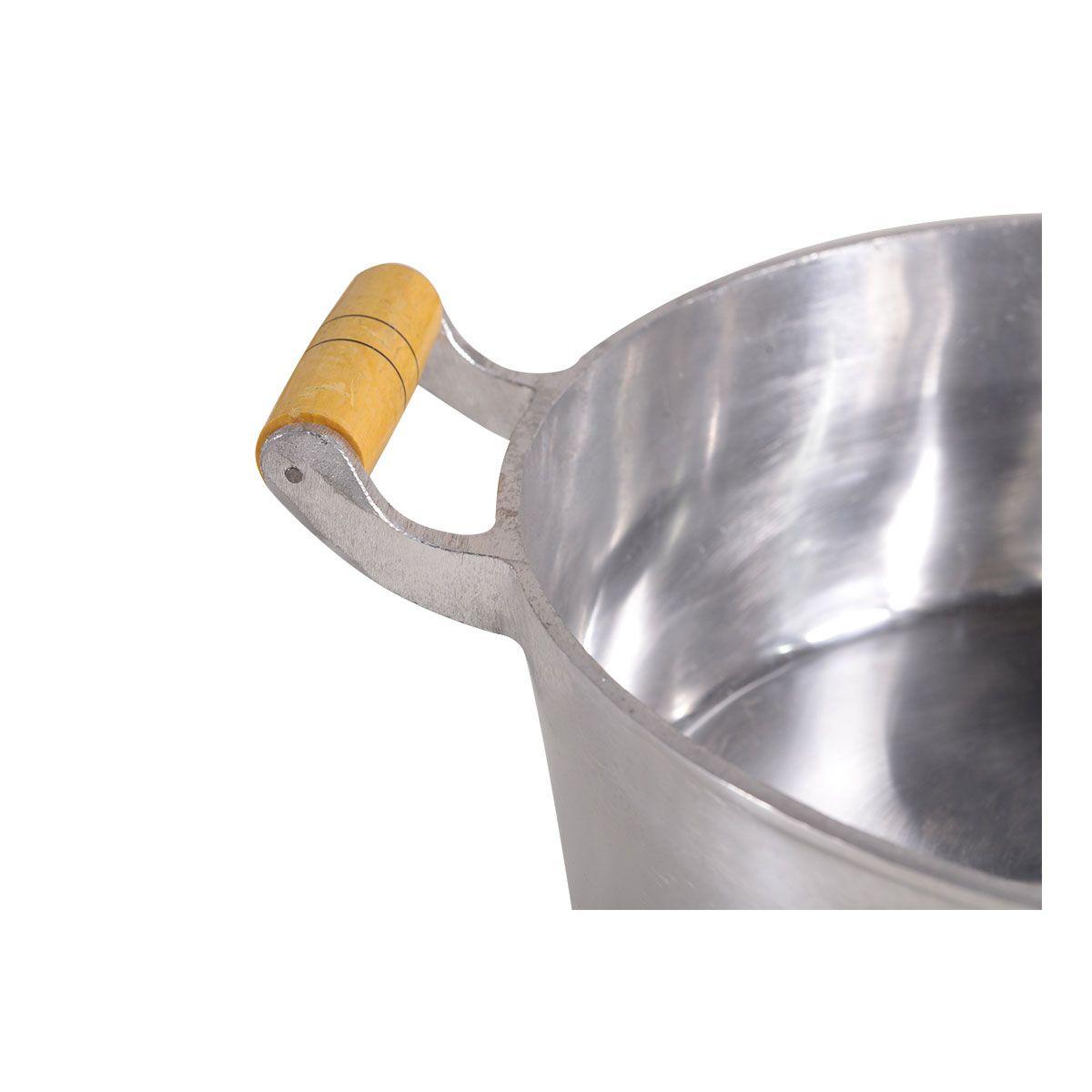 Panela Caçarola De Alumínio Batido 34Cm 9 Litros 4Mm - Df Alumínio