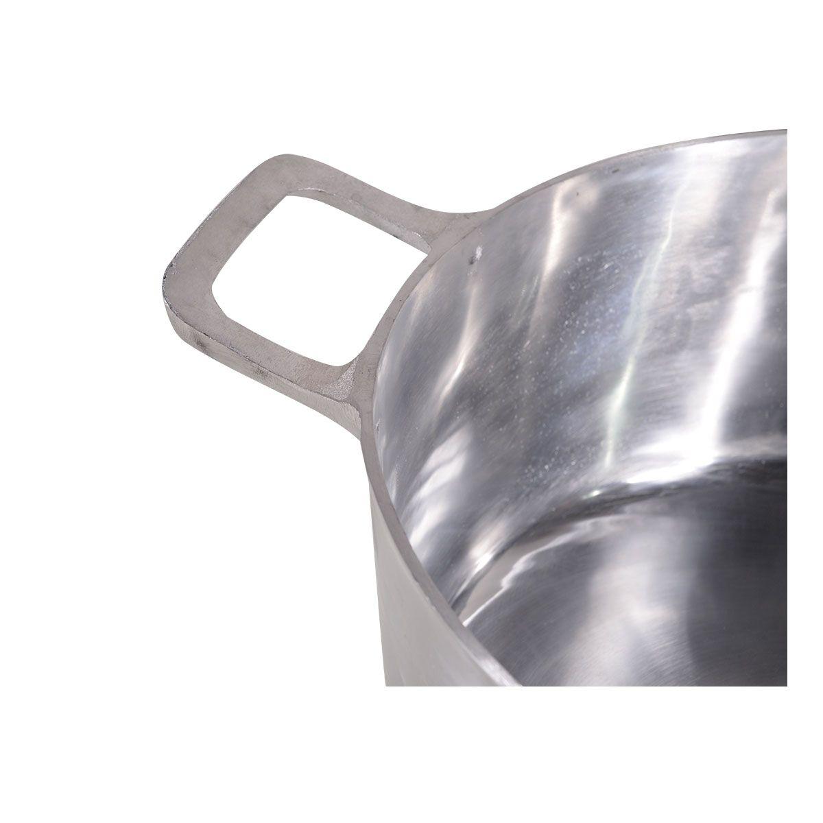 Panela Caçarola De Alumínio Batido 50Cm 41 Litros 6Mm - Df Alumínio