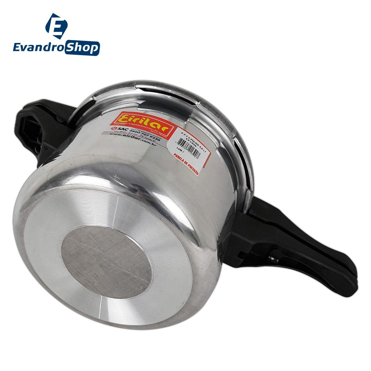 Panela De Pressão Fechamento Externo Aluminio 4,5 Litros - Eirilar