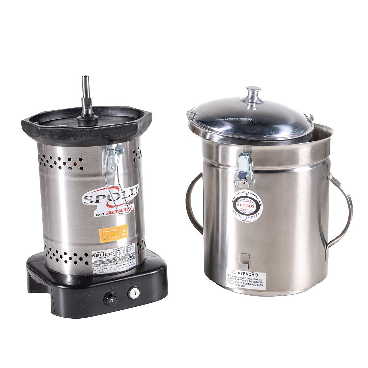 Processador De Alimentos Industrial Cutter 6 Litros 600W Spl201 - Spolu
