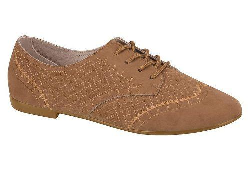 Sapato Oxford Beira Rio Conforto 4150223 Feminino Preto Bege