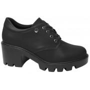 Sapato Quiz Oxford Salto Grosso Tratorado 661702 Feminino