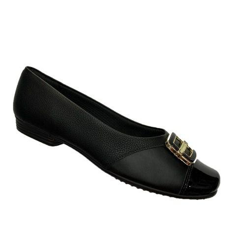Sapato Sapatilha Piccadilly Casual 251050 Feminina Preto