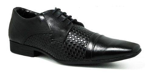 Sapato Bertelli Social Cadarço 60027 Masculino Preto Verniz
