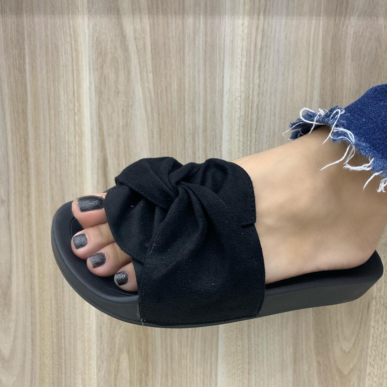 Chinelo Moleca Slide De Laço Com Nó 5414.144 Feminino