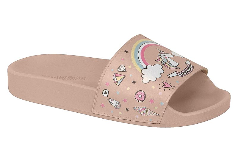 Chinelo Molekinha Slide Unicórnio 2311.110  Infantil Rosa