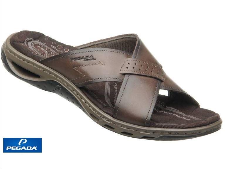 Chinelo Pegada Sandália De Couro 131661 Conforto Masculino
