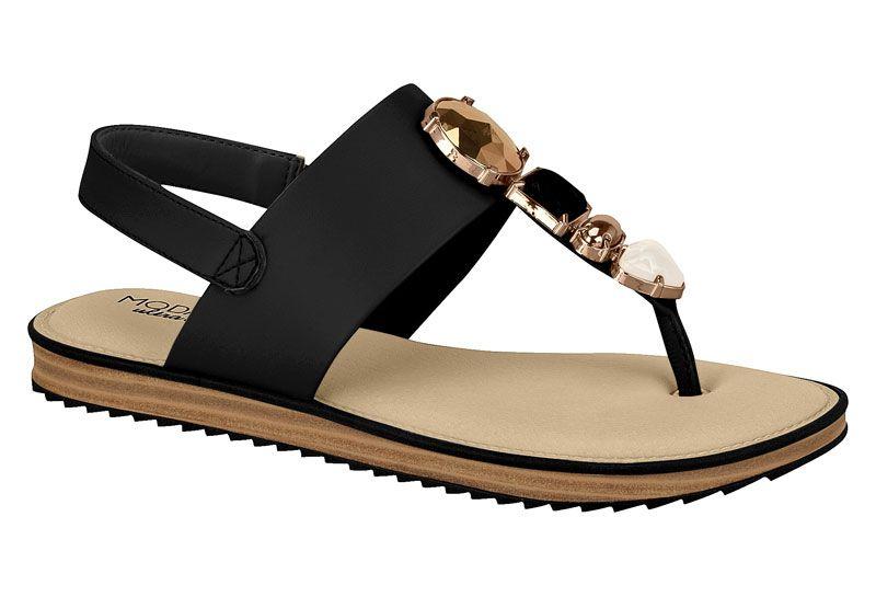 Sandália Modare Rasteira Com Pedras Conforto 7141.104 Feminina