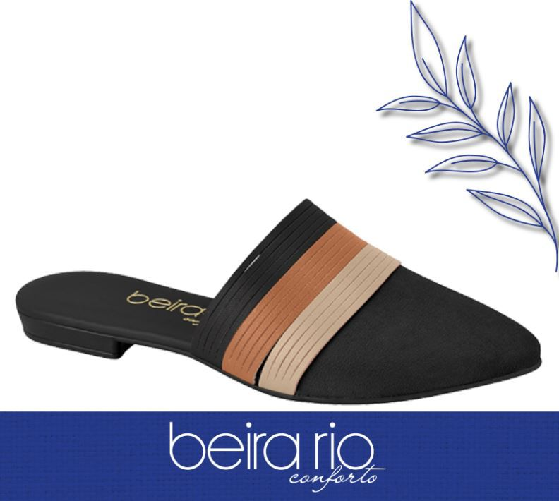 Sapato Beira Rio Mule Sapatilha Conforto 4134.465 Feminino