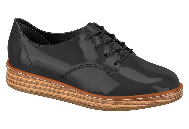 Sapato Beira Rio Oxford Flatform Verniz 4235.201 Feminino