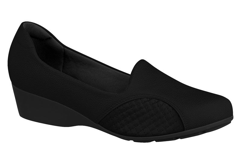 Sapato Modare Anabela De Uniforme Feminino 7014.229 Preto
