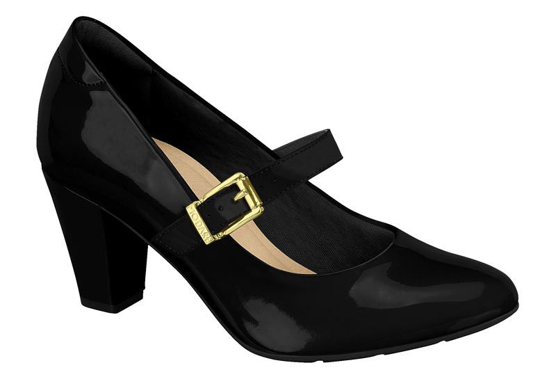 Sapato Modare Boneca Salto Grosso Fivela Uniforme 7305.134 Feminino