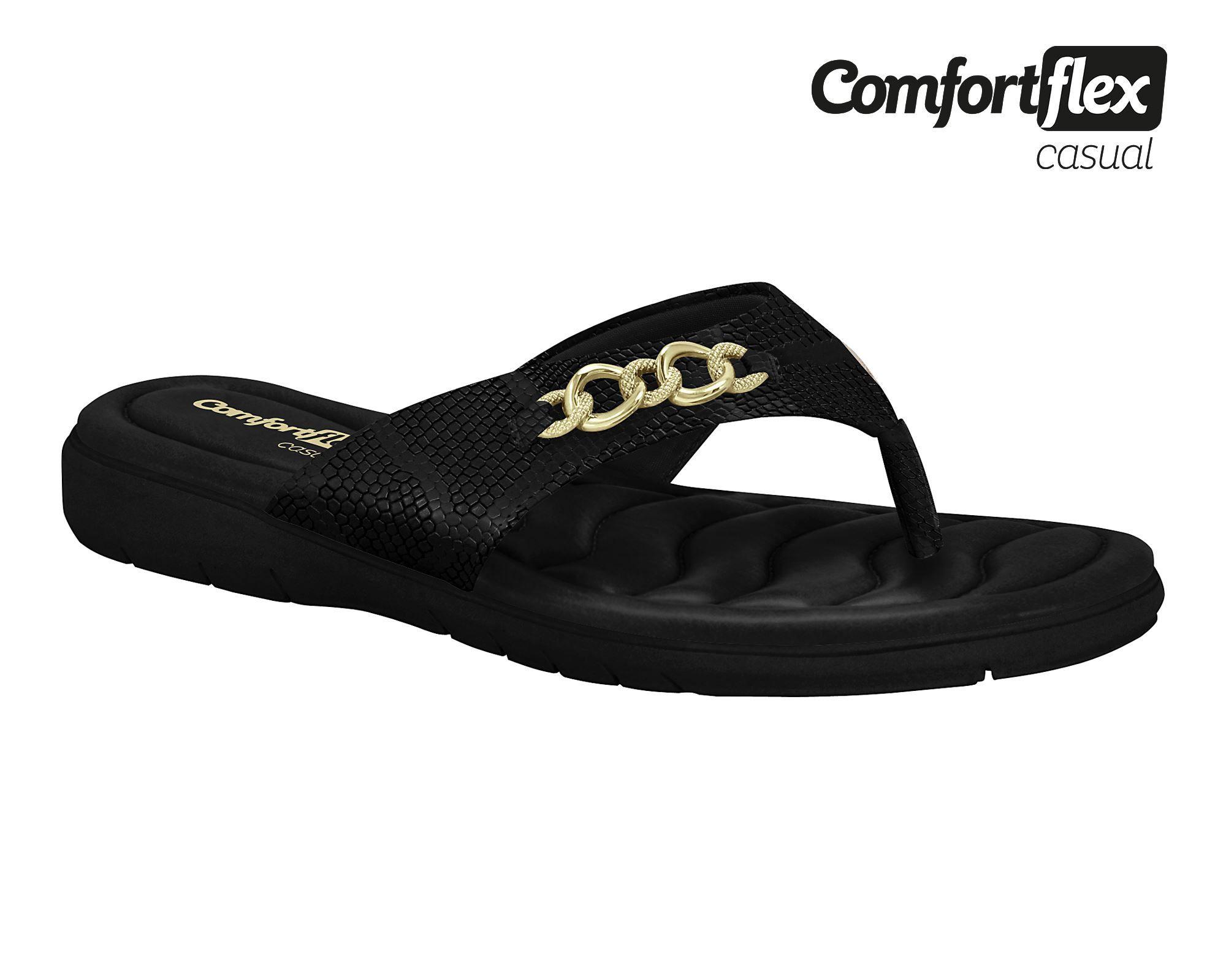 Tamanco Chinelo Comfortflex Casual 1980406 Feminino Conforto