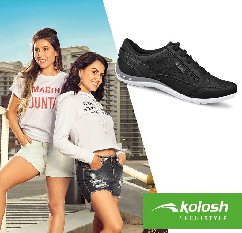 Tênis Kolosh Casual Sem Cadarço Elástico C0630 Feminino
