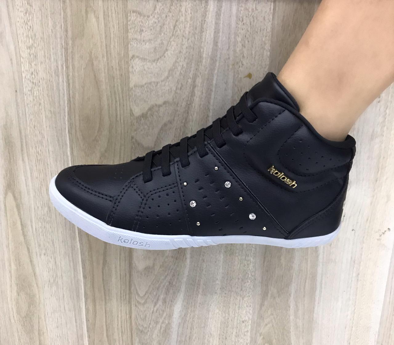 Tênis Kolosh Sneaker Cano Alto Bota Elástico C0114 Feminino