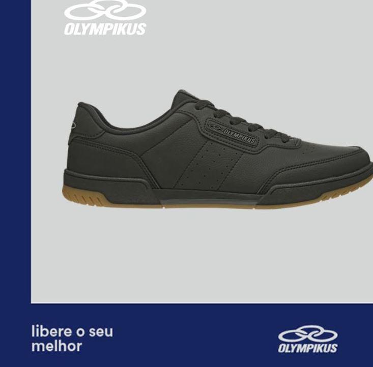 Tênis Olympikus Control Clássico Todo Preto Casual Masculino
