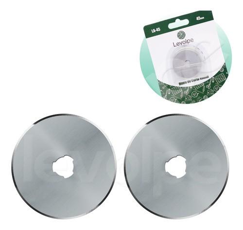02 Discos Refil Lâmina Do Cortador Circular Patchwork 45mm