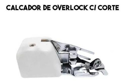 Calcador Para Fazer Overlock Corte Lateral Máquina Doméstica