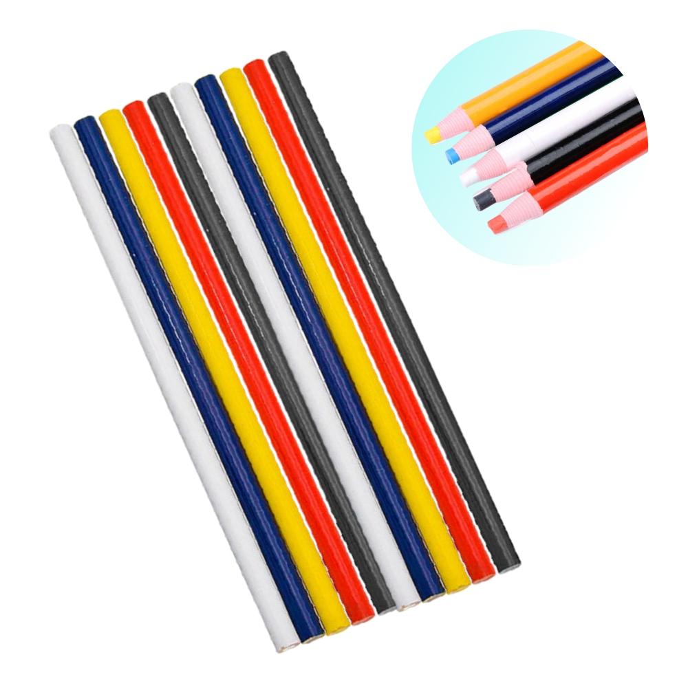 10 Lápis Giz Alfaiate Marcar Riscar Tecido Cores