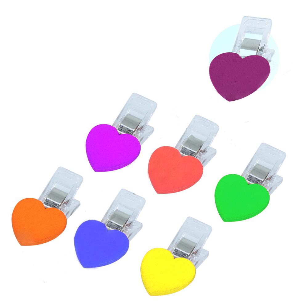 10 Mini Prendedor Clips Prender Plástico Pequenos Coração