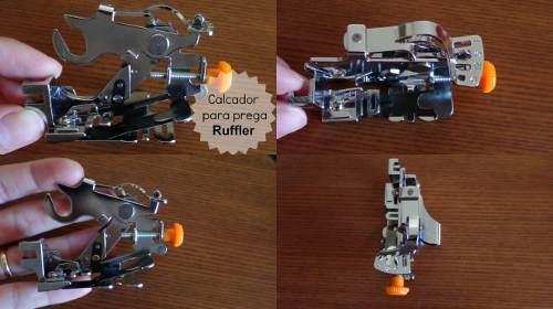 Kit Calcador De Overlock Com Faca + Pregas Franzidos Fru Fru
