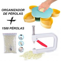 Aplicador De Perolas + 1500 Perolas + Caixa Organizadora