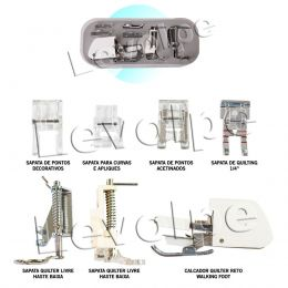 Kit 7 Calcador Quilter Quilt Para Maquina De Costura