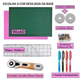 Kit Base De Corte A1 90x60 + Regua 15x60 + Cortador 45mm