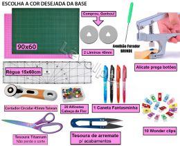 Kit Base De Corte A1 90x60 + Régua 15x60 + Cortador 45mm + O Mais Completo