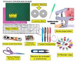 Kit Base De Corte A2 60x45 + Régua 15x60 + Cortador 45mm + O Mais Completo