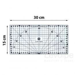 Régua 15x30 Cm Milimetrada Patchwork Artesanato