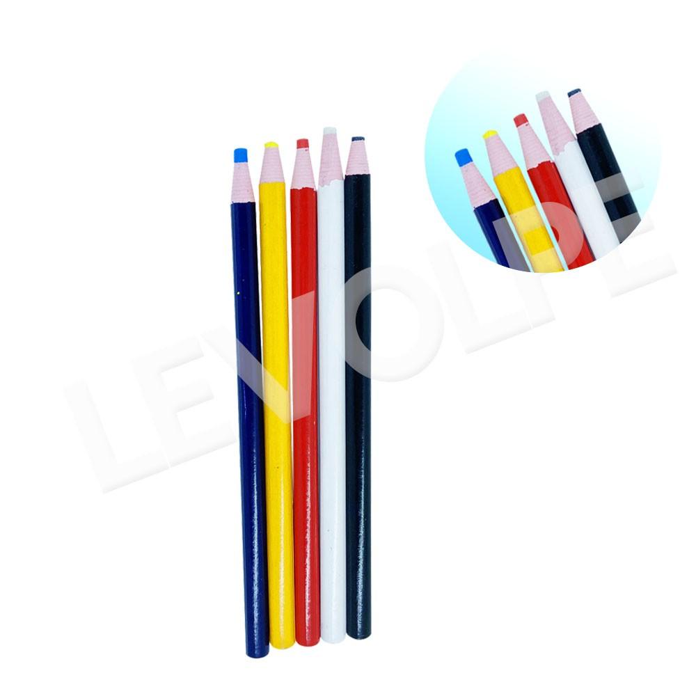 5 Lápis Giz Alfaiate Marcar Riscar Tecido Econômico Colorido