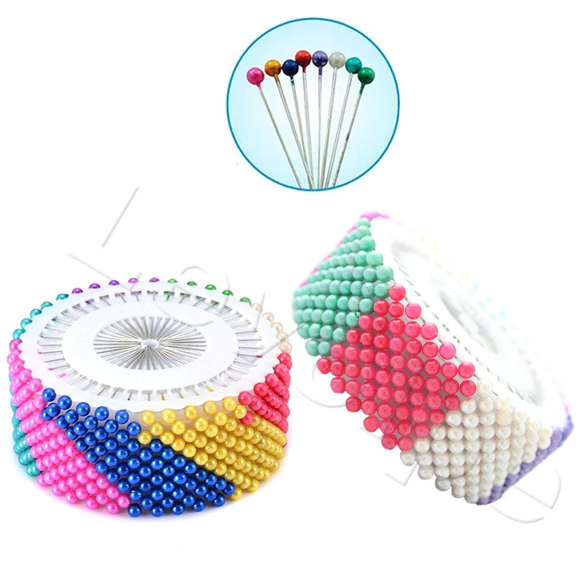 Alfinetes Cabeça Bola Coloridos Patchwork Costura 480 Peças
