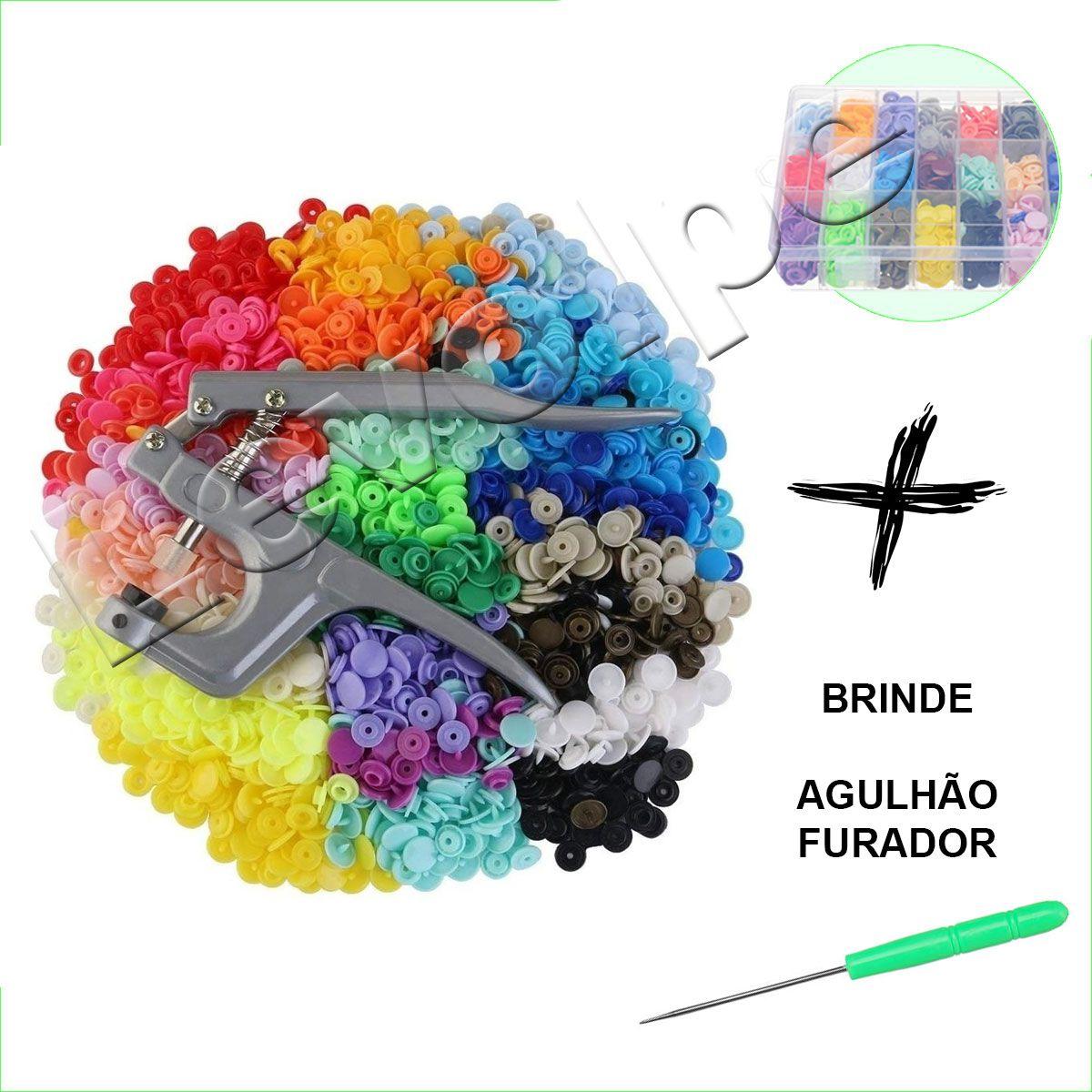 Alicate Pressão Pregar Botão Plastico + Kit 360 Botões N12