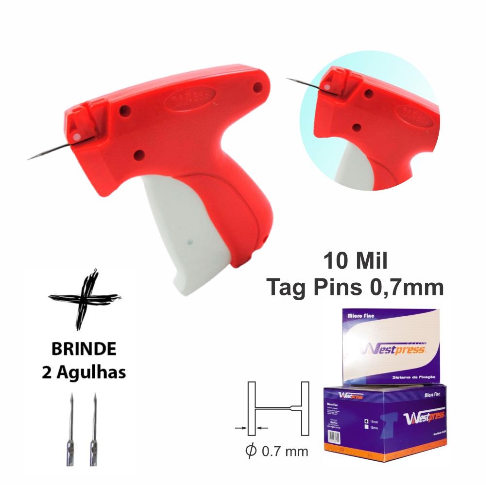 Aplicador De Tag Pin Fine Para Tecidos Finos + 10 Mil Pins