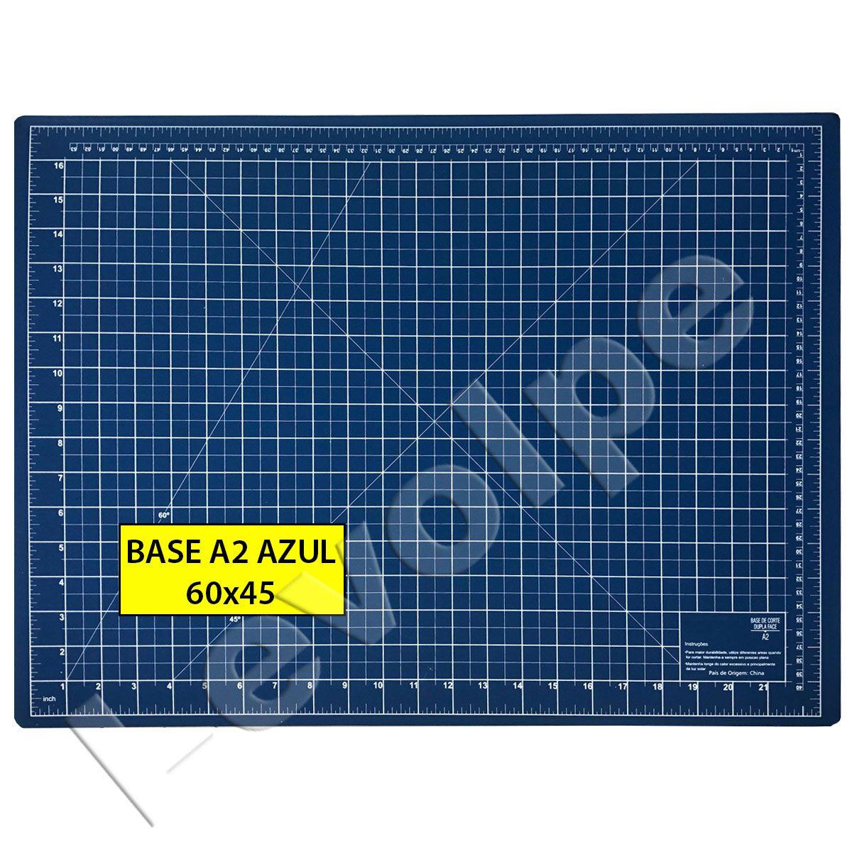 Base De Corte A2 60x45 Azul Para Patchwork Scrapbook Artesanato