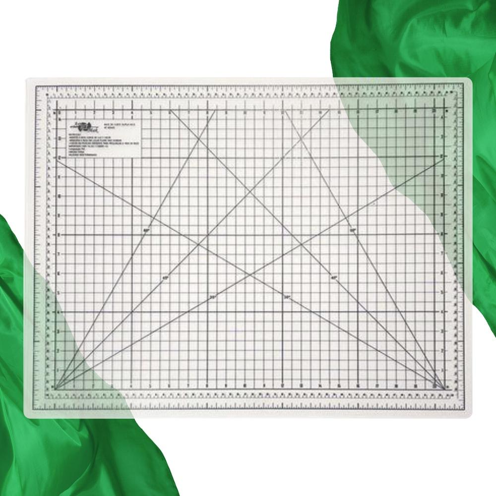 Base de Corte A2 60x45cm Transparente Patchwork Scrapbook