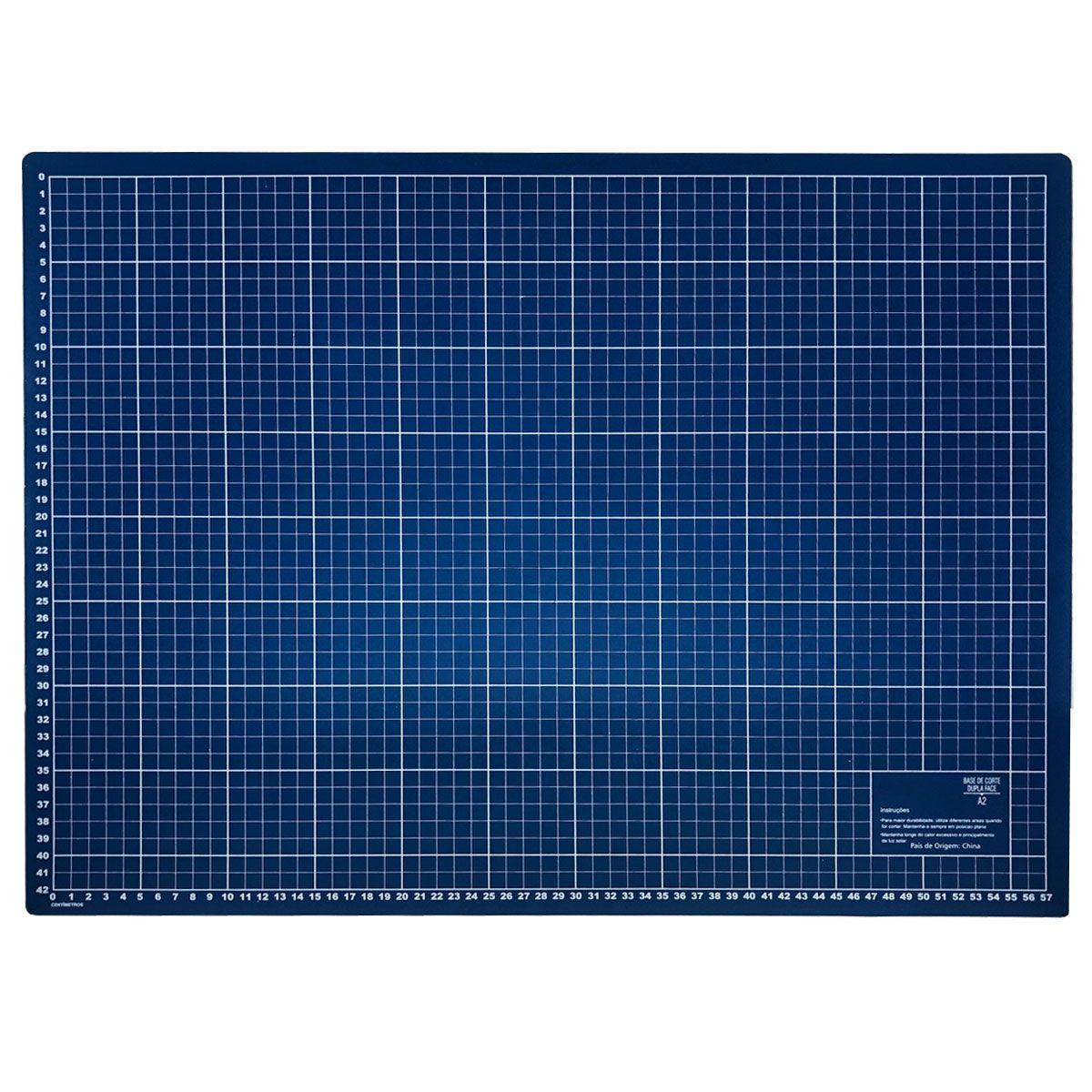 Base De Corte A2 Azul 60x45 cm Para Patchwork Scrapbook Artesanato