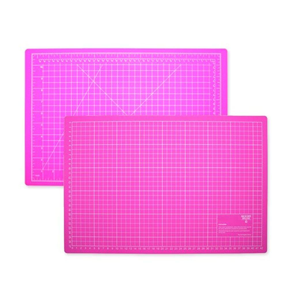 Base De Corte A2 Rosa 60x45 cm Para Patchwork Scrapbook Artesanato