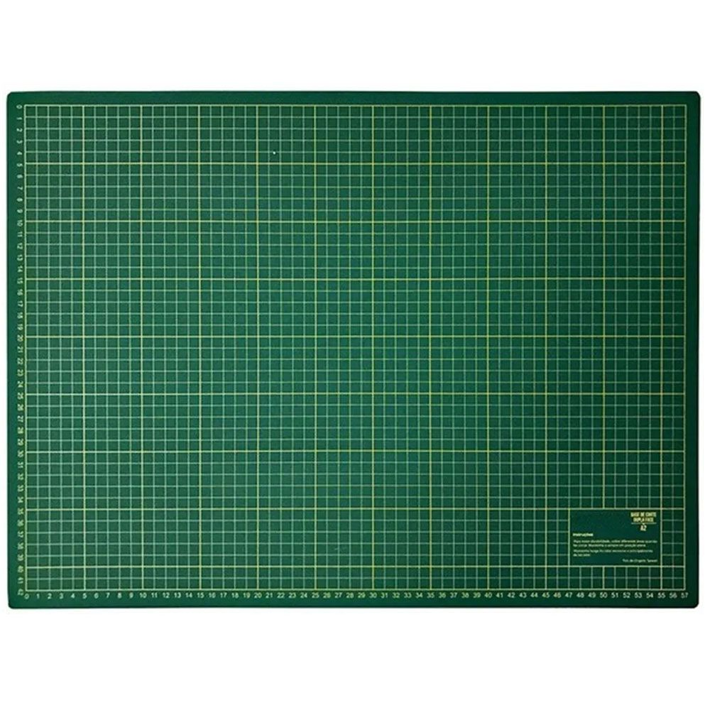 Base De Corte A2 Verde 60x45 cm Para Patchwork Scrapbook Artesanato