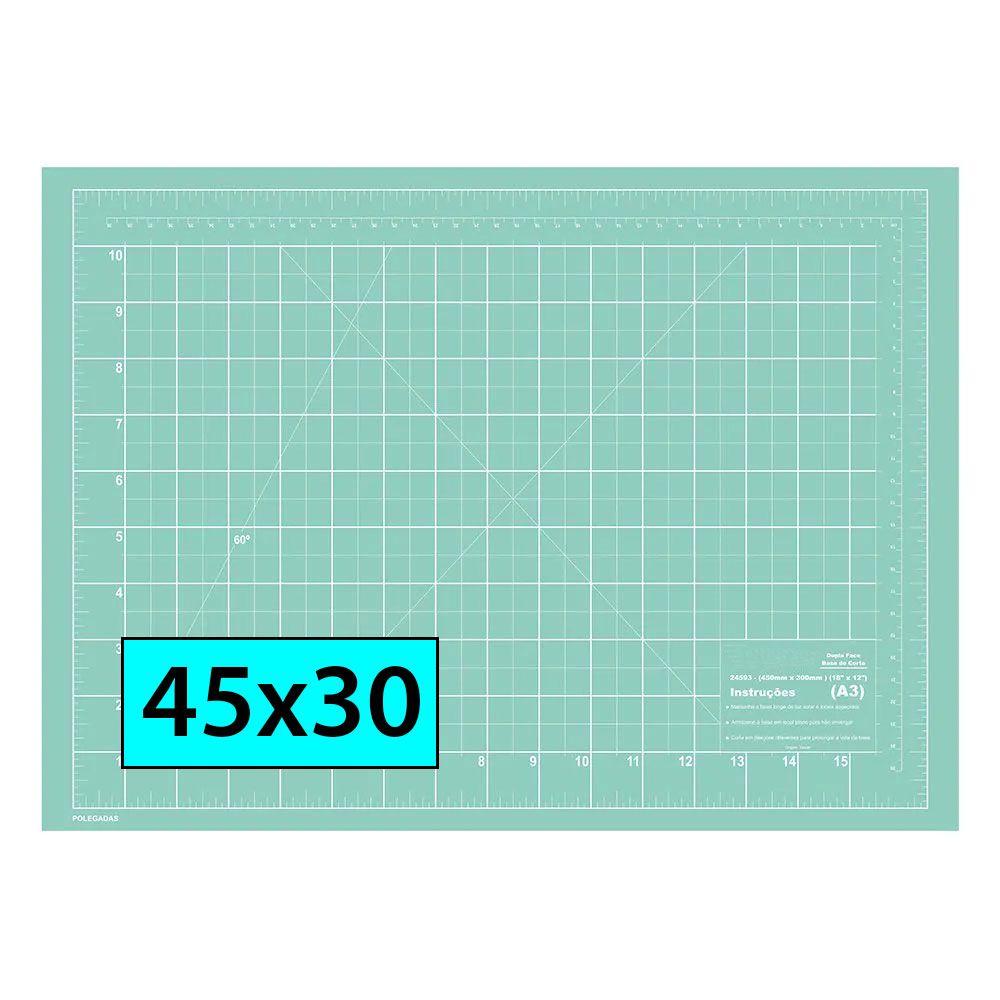 Base De Corte A3 45x30 Azul Turquesa Patchwork Scrapbook