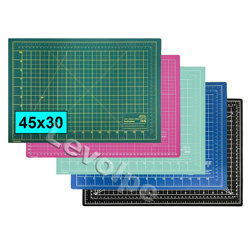 Base De Corte A3 45x30 Patchwork Scrapbook Artesanato - ESCOLHA A COR DESEJADA