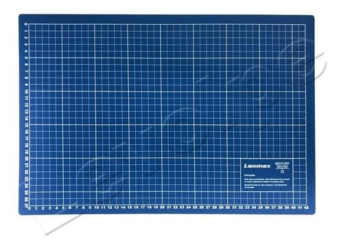 Base De Corte A3 45x30 Patchwork Scrapbook Azul