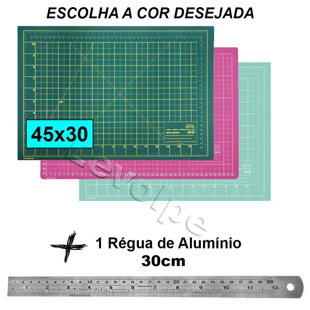 Base De Corte A3 45x30 + Régua Metal 30cm Patchwork