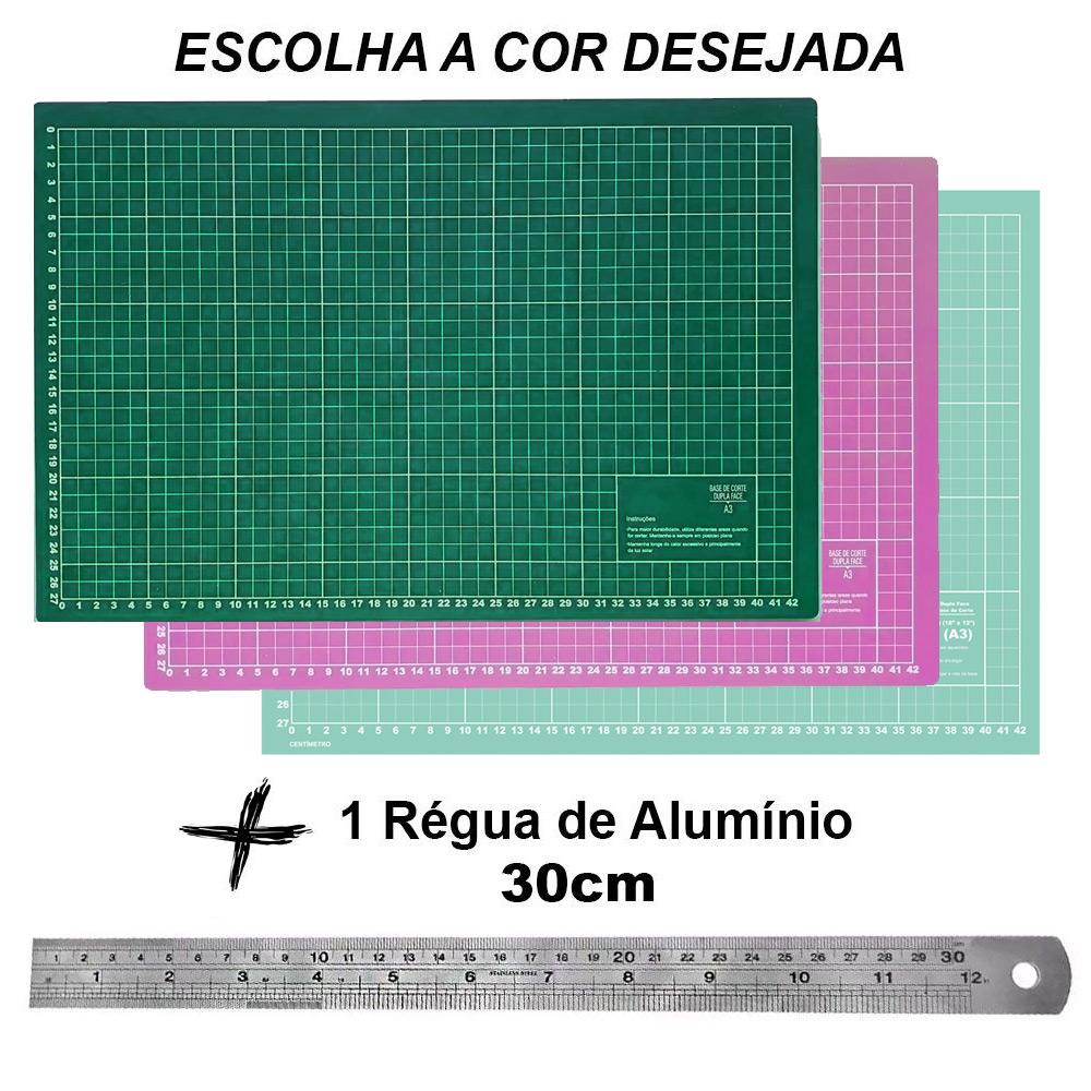 Kit Base De Corte A3 45x30 Régua Metal 30cm Patchwork Scrapbook