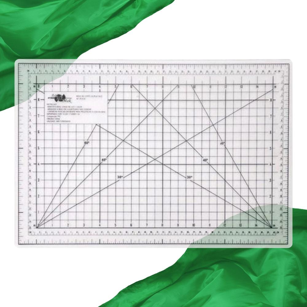 Base de Corte A3 45x30cm Transparente Patchwork Scrapbook