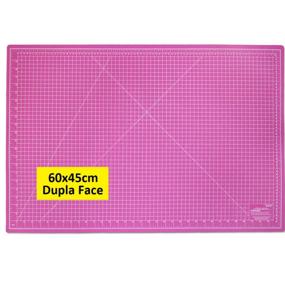 Base De Corte A2 60x45 Rosa Para Patchwork Scrapbook