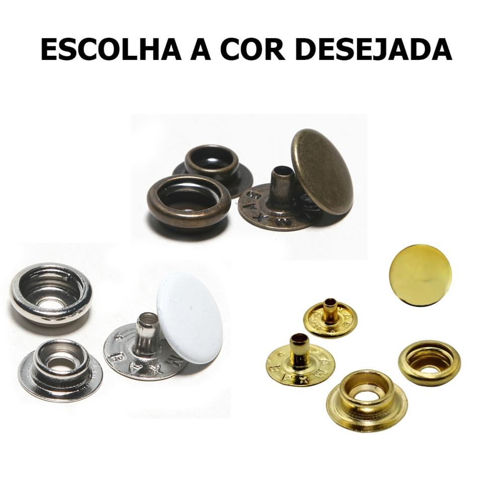 Botao Pressao Ferro Metal Nº 100 Pacote Com 200 Un