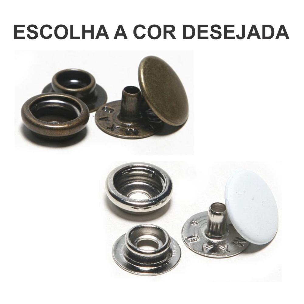 Botao Pressao Ferro Metal Nº 80 Niquelado Pacote Com 200 Un - Baxmann