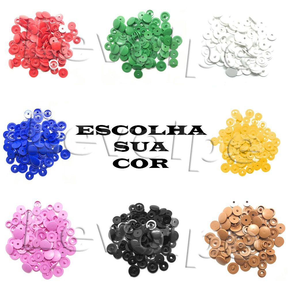 Botões De Pressão Ritas Nº12 Plástico Pacote 50 Unidades - ESCOLHA A COR DESEJADA